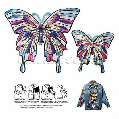 Colourful Butterfly Applique Trim Embroidery Sewing Patch Fabric Badge Accessory