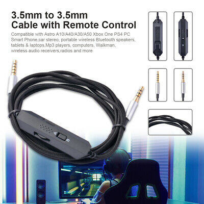 Headset Nylon Braided Cable w/Mic&Volume Control for Astro A10/A40/A30/A50 TH138