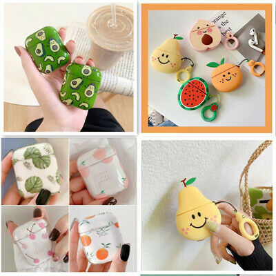 For Apple AirPods Case Avocado Fruit Protective Charging PC Silicone Cover