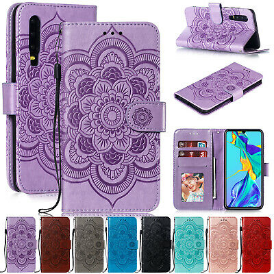 For Huawei P Smart 2019 Case Y6 2019 P30 Leather Magnetic Flip Card Holder Cover