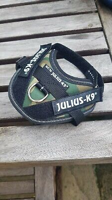 *WORN ONCE INDOORS* Julius K9 IDC-Power harness Dog Harness Camouflage Baby 1