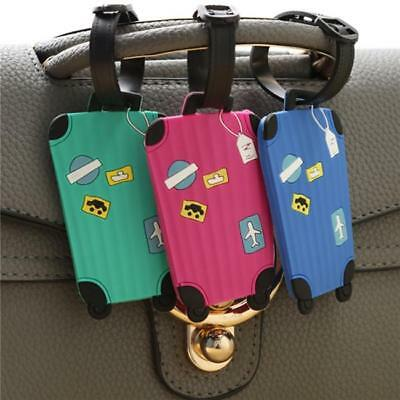 Cartoon Silicone Luggage Tag Baggage Kids Food Adults Tags Travel Labels LA
