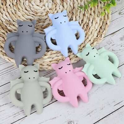 Cartoon Bat Infant Baby Teether Silicone Soother Chewable Pendant Teething Toy