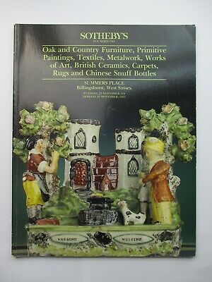 Sotheby's Auction Catalogue - Oak and Country Furniture...1993