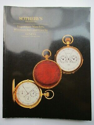 Sotheby's Auction Catalogue - Important Watches, Wristwatches and Clocks 1994