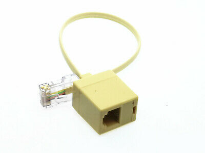 1x Telephone RJ11 6P4C Female to Ethernet RJ45 8P8C Male Adapter Converter