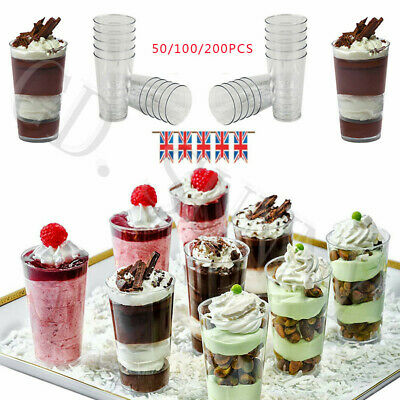Small Jelly Glass Cups Mini Shot Shooters 3oz Dessert Drink Plastic Party 20/100