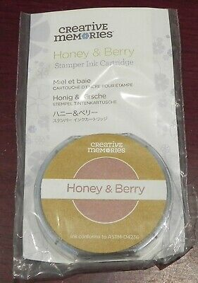 Creative Memories Stamper Honey/Berry Ink Cartridge Bnip