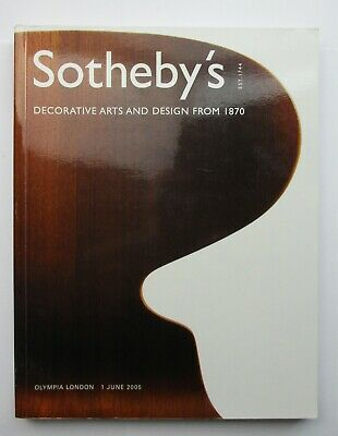 Sotheby's Auction Catalogue - Decorative Arts and Design from 1870 2005