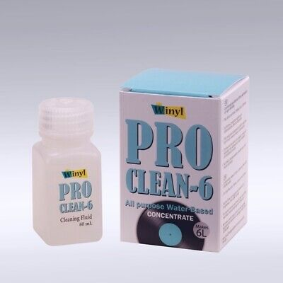 Winyl pro Clean 6 - 60ml Concentrate for 6 Litre Cleaning Fluid New
