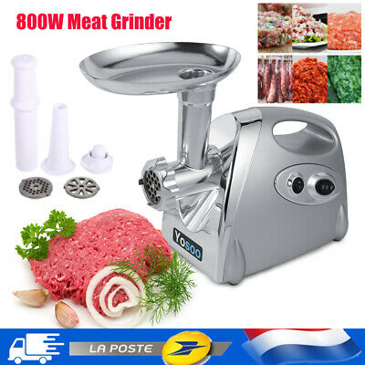800W Electric Meat Grinder Machine Sausage Maker Mincer Stuffer Stainless Steel