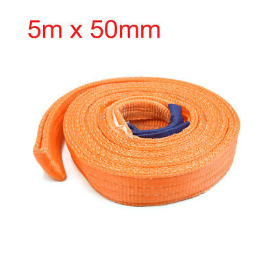 2ton Orange Car Cargo Truck Tie-Down Ratchet Straps Recovery Tow Rope 5m x 50mm