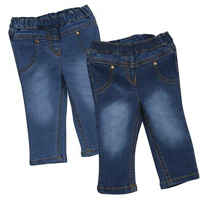Baby Girls Cotton Rich Jeans Soft Stretch Summer Denim Trousers Pants Jeggings