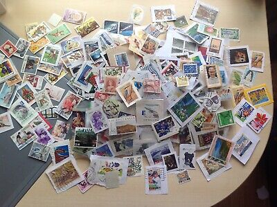 Unsorted charity collected World and Commonwealth stamps.values to $20 mint/Used