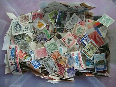 Stamp collection/mixture, 100 different, mainly used.