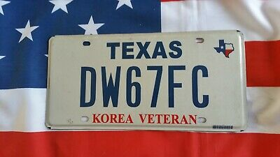Plaque d'immatriculation Texas DW67FC US USA license plate