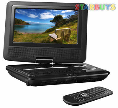 "7"" Inch Portable DVD Player With Swivel Screen, 12V Car Charger & Remote *U*"