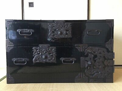Antique Japanese Furniture Clothing chest Dansu lacquered