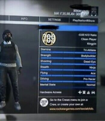 SELLING GTA 5 Modded Account PS4/XBOX ONE (READ DESCRIPTION)