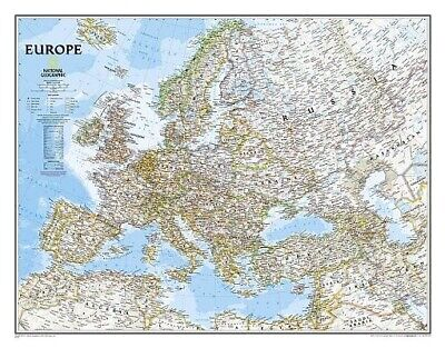 Europe Classic, Tubed: Wall Maps Continents by National Geographic Maps.