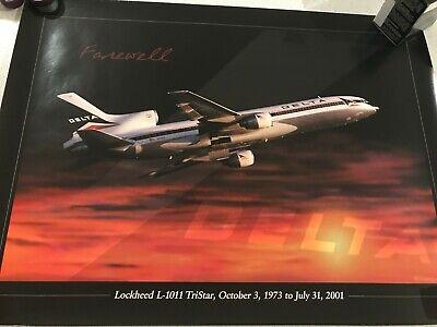 DELTA AIRLINES FAREWELL L-1011 poster