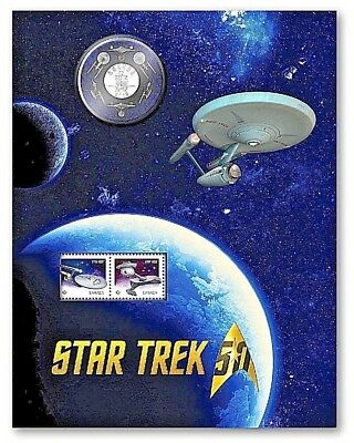 Star Trek 50Th Anniversary – The Original Series Coin And Stamp Set Canada