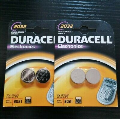 4 x Duracell CR2032/DL2032/ECR2032 3V Lithium Coin Cell Battery 2032