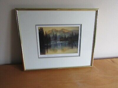 "Kiff Holland Signed Print Frame/Matted "" Rocky Mountain Sunrise"""