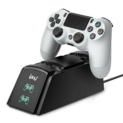 PS4 Controller Charger, Dualshock 4 Charging Station Compatible with PS4 Slim
