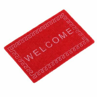Doll House Miniature carpet WELCOME Mat Dollhouse Accessories Home & Living T4T2
