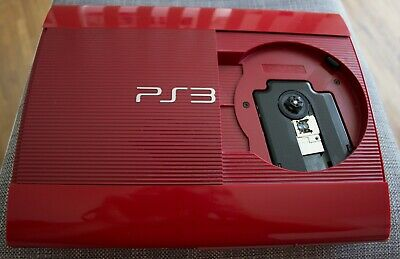 SONY Playstation 3 superslim 500 GB, rot - Top-Zustand + 16 Spiele