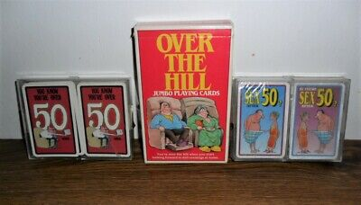 Vintage Gag Playing Cards - Over the Hill Jumbo, Is There Sex After 50? + More