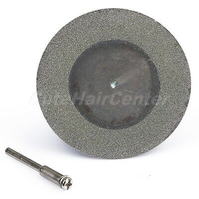 "2.4"" Diamond Coated Cutting Off Wheel Disc Blade Mandrel Shank Shaft Rotary Tool"
