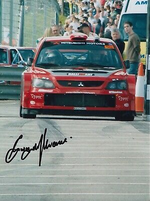 Gwyndaf Evans Hand Signed 8x6 Photo - Rally Autograph 3.