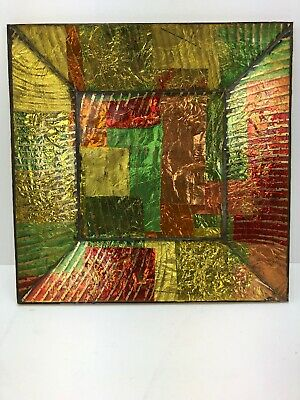 VINTAGE MID CENTURY MODERN GEORGES BRIARD Multi Color MOSAIC GLASS TRAY DISH