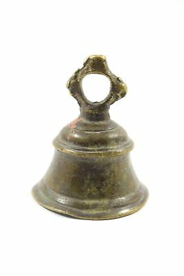 Vintage Real Collectible Brass Temple Bell, Nice Decorative. i9-157 US