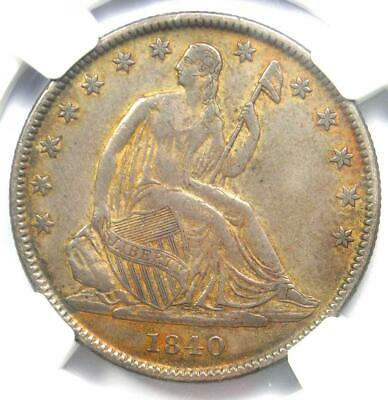 1840-O Seated Liberty Half Dollar 50C - Certified NGC XF Detail - Rare Coin!