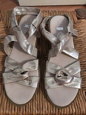 59a1ab821c8 LADIES GOLD SANDALS Size 9 Wide Fit Primark Atmosphere Used Once