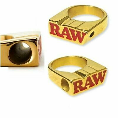 Raw 24K Gold Smoke Ring - Size 10 - Raw Rolling Papers Brand With Gift Box !!