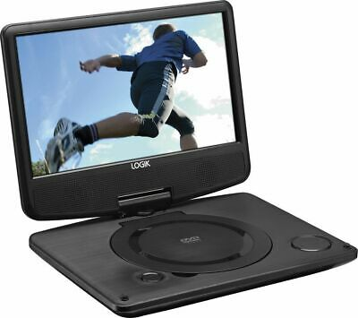 "Logik 9"" Portable In-Car Rechargeable DVD Player Swivel Screen USB Port"