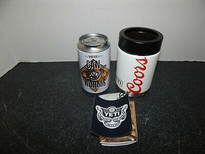 YETI Coors Light Beer Colster Rambler Can Worms Koozie
