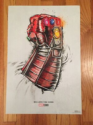 Cinemark PROMO Exclusive Avengers Endgame We Love You 3000 Poster! Awesome! New!