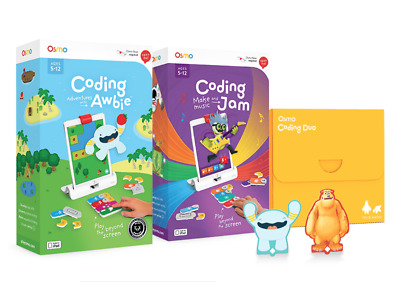 Osmo Coding Family - Coding Awbie, Coding JAM Coding DUO - 3 Kids Games RRP £100