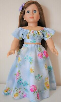 "American Girl Dolls Our Generation 18"" Doll Clothes Pink Boho Outfit Top Skirt"