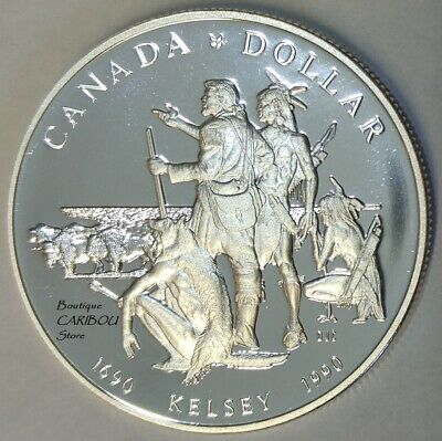 1990 Canada Silver Proof Dollars Henry Kelsey