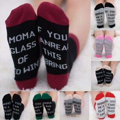 Unisex Funny Socks Sock Long Socks If You Can Read This Bring Me a Wine Beer USA