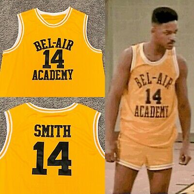 Will Smith The Fresh Prince of Bel-Air Academy Basketball Jersey Bel Air Prep 14