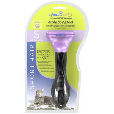 Furminator Deshedding Tool Small Cats Short Hair up to 10lbs