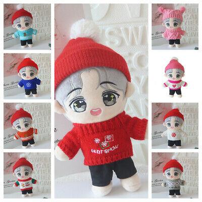 Kpop BTS RM Cute Figure Doll Bangtan Boys Stuffed Plush Toy with Clothes 20CM