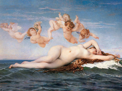 "Decor Art Canvas Print Oil Painting Alexandre Cabanel, The Birth of Venus16""x20"""
